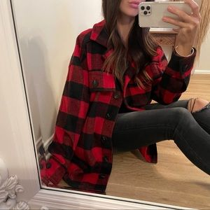 Holly Plaid Coat | Red + Black